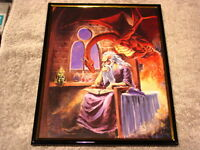 WIZARD AND DRAGON 8X10 FRAMED PICTURE