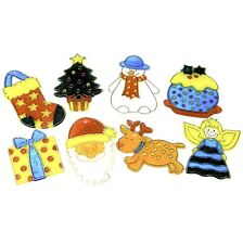 Christmas Decorations X24 - Stained Glass Paint-Your-Own, Arts and Crafts Kit