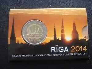 Latvia  2 euro coin card RIGA - EUROPEAN CAPITAL OF CULTURE 2014 (BU)