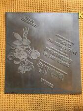 More details for vintage large holmes florist barkingside & ilford jetplate printing plate