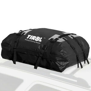 PVC Waterproof Cargo Bag Luggage Rooftop Travel Storage Pocket For Car Roof Top