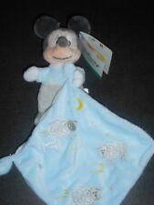 Doudou Souris Mickey Bleu Gris Mouchoir Bleu Lune Etoiles 123 Disney Nicotoy 9F