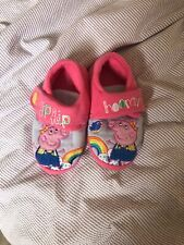 Kids Peppa pig slippers size 8