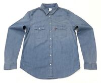 Levi's Women's Cotton Denim Shirt In Mid Blue Size S