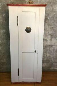 antiker Weichholz Spind   Kleiderschrank   wohnfertig   194 x 84 x 43   um 1900