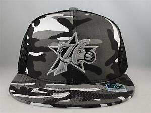 NBA Philadelphia 76ers Reebok Camo Fitted Hat Cap Size 7 1/4