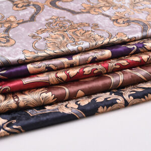 1M Print Cloth Floral Velvet Fabric Home Car Upholstery Decoration DIY Craft Sew