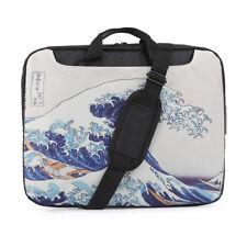 "TaylorHe 15.6"" DEFECT Laptop Shoulder Bag With Handles Strap Great Wave"