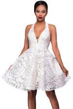 V-Neck Formal Solid Dresses for Women