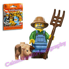 LEGO personnage Farmer Bauer dans vert overall vert rouge personnages Latzhose ville NEUF