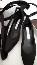 Stella McCartney Hemy Bow Black Satin Shoes Pumps 3/36 Would Fit Slim 4/37