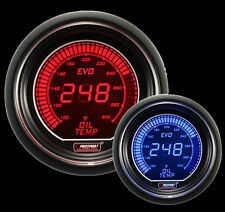 OIL TEMPERATURE Gauge Prosport EVO Series Red and Blue 52mm 2 1/16""