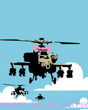 Banksy Happy Choppers premium 16 x 20 Canvas Print Venne