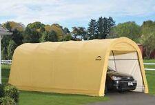 ShelterLogic 10x20x8 Round Tan Auto Shelter Portable Garage Carport Canopy 62684