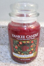 "YANKEE CANDLE, 22 OZ ""RED APPLE WREATH"", NEW"