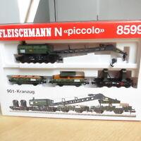 Fleischmann 8599  Spur N Kranzug der DB Epoche 3/4, 4-teilig neuwertig in OVP