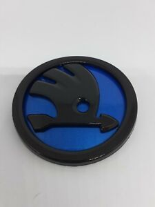 Skoda badge emblem 90mm Blue & Black high quality free P&P