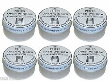 12 x Prices Open Window Scented Candle Tin Candles - Eliminates Odours Smells