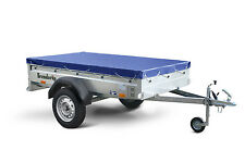 Universal Set Anhänger Plane Stema 750kg 207x114cm Flachplane 500g/m² Gummiseil
