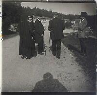 Snapshot Famille Francia Foto Placca Da Lente Stereo Vintage LD9