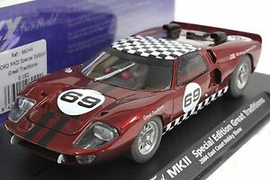 FLY E182 FORD GT40 GREAT TRADITIONS -RARE 1/32 SLOT CAR