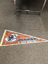 Vintage Schaumburg Flyers Baseball Full Size Pennant Flag Good Condition