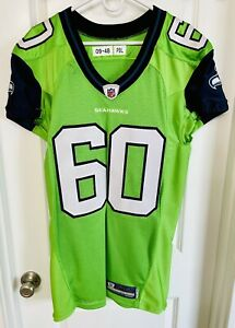 Authentic 2009 Max Unger Seattle Seahawks Nike 48 Jersey GAME CUT TEAM ISSUED