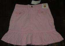 Gymboree Homecoming Kitty long pink ruffle corduory skirt NWT 7 girls' adj waist