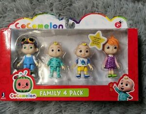 Cocomelon Friends & Family, 4 Figure Pack - 3 Inch Characters From Youtube
