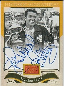 Richard Petty 2012 Panini Golden Age Historical Signatures Autographed Card