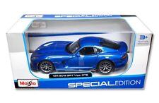 Maisto 1/24 2013 Dodge Viper SRT GTS Diecast Model Car Blue (31271)