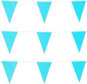 Blue Baby Shower Bunting Banners Hanging Decor Indoor & Outdoor Party Supplies
