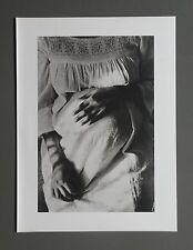 Edouard Boubat Duotone Photo Print 26x35cm Lucette L. & Clémence Paris 1971 B&W