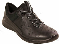 ECCO Womans Shoes Model SOFT 5 lace ups Casual BLACK real Leather NEW