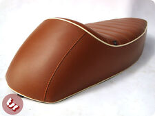VESPA TSR Super Sport Cafe Racer Seat Brown/Tan/Cream Sprint/Super/PX/LML/VBB