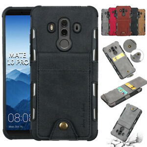 For Huawei P20 Pro / Mate 10 Lite Card Holder Protective Wallet Case Phone Cover