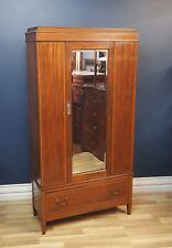 Antique Edwardian Mahogany, Satinwood Inlaid Wardrobe Circa 1900, Restored