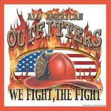 Metal Sign Fire Police Rescue Firefighter Outfitters We Fight the Fight NEW