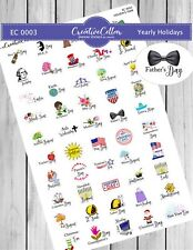 Ec 0003 Yearly Holidays Planner Stickers, 50 Holiday Stickers