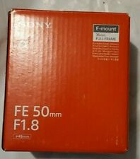 Sony FE 50mm F1.8 Full frame Prime E-Mount Lens SEL50F18F A7 A7R A7S II A5100