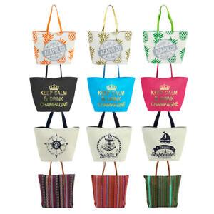 Strandtasche Saunatasche Shopper Strandshopper Badetasche Einkaufstasche