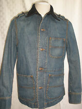 DKNY JEANS N.Y. CITY DENIM - WOOL  JACKET SIZE M UNIQUE VINTAGE MADE IN ITALY