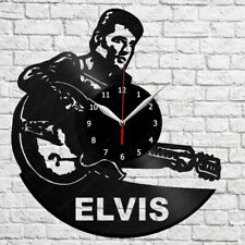 Elvis Vinyl Record Wall Clock Fan Art Home Decor Vinyl Clock 12'' (30cm) 447
