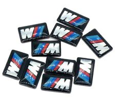 4x M Sport Performance Alloy Wheel Badge Sticker Emblem Decal For BMW 11x18mmm