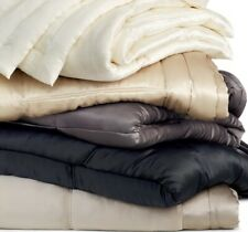 Donna Karan Silk Collection 3pc Full/Queen Quilt ~ Ebony Black ~ NEW ~  $1001