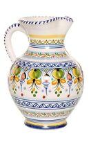 "Spanish Majolica Classica Pitcher 10"" Tall Spain, ceramic, pottery"