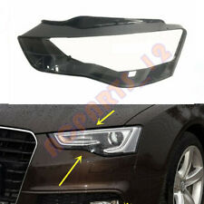 1pcs Left Side Clear Headlight Cover + Glue Replace For Audi A5 2012-2016