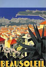 ART AD Beausoleil voyage DECO Poster Print