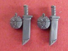 Cadian Command Squad 2 x grandi Knife & mensa Fettuccia-bit 40K