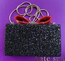 Kate Spade Disney Minnie Mouse Bow Clasp Clutch Crossbody Handbag Purse New
